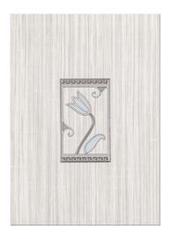 Keraamiline ornament Cersanit Sara Grey Inserto, 25 x 35 cm