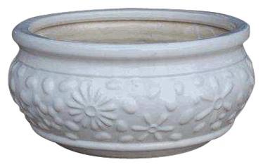 Puķu pods, keramikas 15x32cm, balts