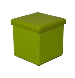 Pufas XYF2116B, dirbtinės odos, žalias
