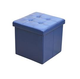 Pufas XYF2116B, dirbtinės odos, mėlynas