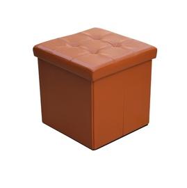 Pufas XYF2116B dirbtinės odos, oranžinis