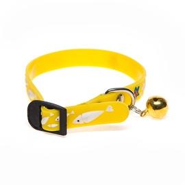 Augintinių antkaklis YL73450, geltonas, 1,2 x 31 cm