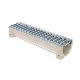 Latako elementas su cinkuotojos plieno grotelėmis STORA Drain H90, 0,5m