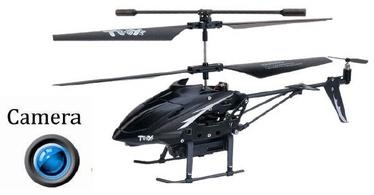 Žaislinis sraigtasparnis su kamera