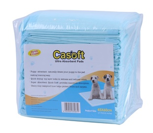 Vienreizējas suņu guļvietas Casoft Ultra Absorbent Pads 45x60cm 30gab.