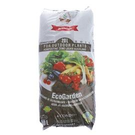 Kompostas ecoGarden daržui ir šiltnamiui su Condit trąšomis Juknevičiaus, 20 L