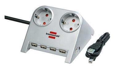 PAGARINĀTĀJS 1.8M 2V USB 3X1.5 S (BRENNENSTUHL)