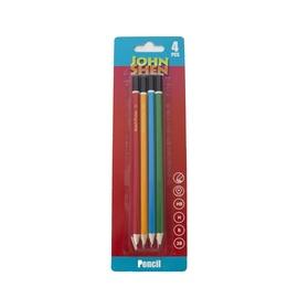 Harilik pliiats Johnshen MP52071, 4 tk