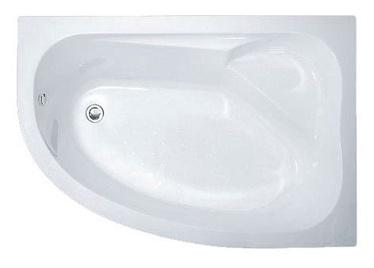 Kairinė akrilinė vonia Thema Lux XD2006, 150 x 100 cm, su kojomis