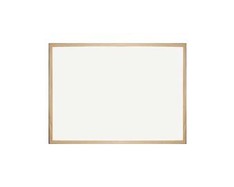 Balta magnetinė lenta, 60 x 90 cm, mediniu rėmu