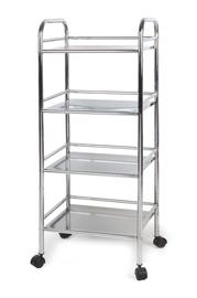 """4 aukštų vežimėlis su ratukais """"Futura"""" FLF026-5 CR"""