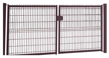 Segmentiniai dvivėriai vartai, 153 x 400 cm, 2 stulpai