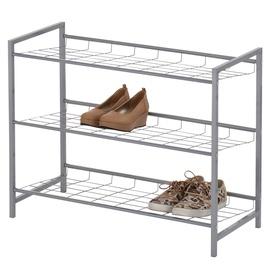 """Metalinė 3 aukštų batų lentyna """"Futura"""" GC2937-3, 80 x 30 x 60 cm"""