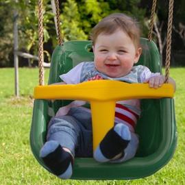 Vaikiškos sūpynės - kėdutė, vienvietės, žalios