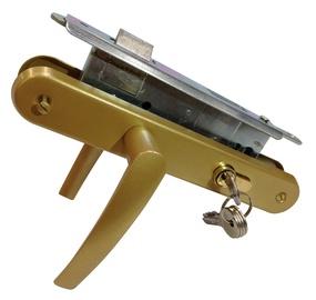 Įleidžiamoji spyna Vagner SDH 72 / 45 mm su Beta rankenomis ir cilindru, gelsva