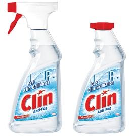 """Purškiamasis langų valiklis """"Clin"""" Anti-Fog, 2 x 500 ml, su papildomu buteliuku"""