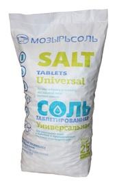 Druskos tabletės Mozyrsalt vandeniui minkštinti, 25 kg