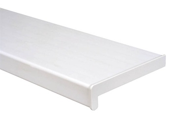 Balta PVC palangė su antgaliais, 250 x 1300 mm
