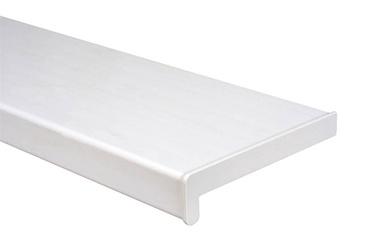 Balta PVC palangė su antgaliais, 250 x 1600 mm