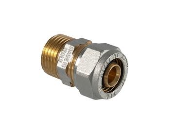 """Liitmik TDM Brass 26 mm, 1"""", väliskeere, alupex"""