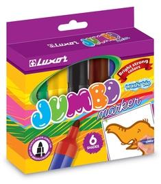 "Flomasteriai ""Luxor"" 6190 / 6BOX, vandens pagrindu, 6 spalvų"