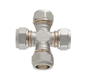 Ristliitmik TDM Brass 16 mm, alupex