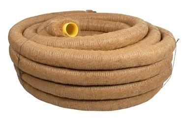 Drenažinis vamzdis Frankische D80/72 mm, su kokoso plaušų filtru