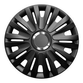 Dekoratīva uzlika auto diskiem Autoserio Delta melnā krāsā, radiuss 15 collas, iepakojumā 4 gab.