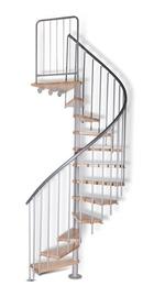 Vītņveida kāpnes Atrium Novo, dižskabārdis, 140x265mm