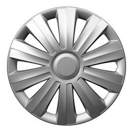 Dekoratīva uzlika auto diskiem Autoserio Snake sudraba krāsā, radiuss 15 collas, iepakojumā 4 gab.