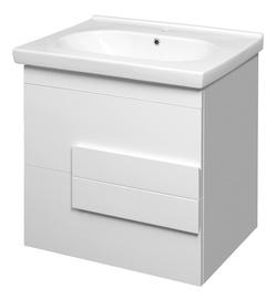 Vonios spintelė Riva Elegance SA70C, balta, su praustuvu
