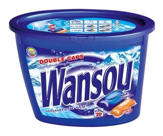 """Dvigubos skalbimo kapsulės """"Wansou"""" Mountain Sky, 20 vnt"""