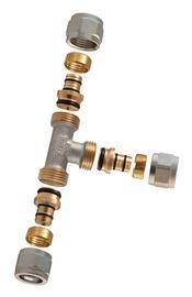Liitmik kolmik TDM Brass 1445, 16x16x16mm, avatav