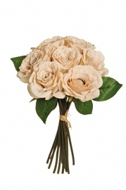 Dirbtinių rožių puokštė, balta