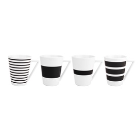 4 puodelių komplektas, 360 ml