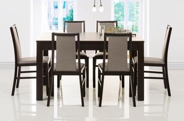 Valgomojo stalas Merkurijus (pasididinantis), riešutmedžio spalva