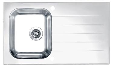 Virtuvės plautuvė Alveus Glassix 10, balta, su sifonu