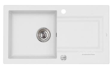 Virtuvės plautuvė  Alveus Falcon 11, su sifonu, balta