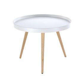 Baltas kavos staliukas 9624,60 x 60 x 45 cm