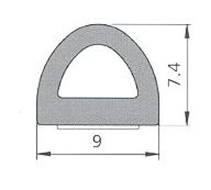 BLĪVGUMIJA D 9X7.5 SD-1AX/4E RUDA(100) (SANOK)