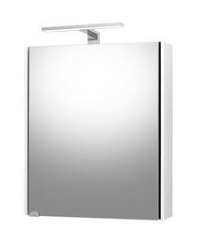 Pakabinamoji vonios spintelė Riva SV55-3, balta, su veidrodžiu