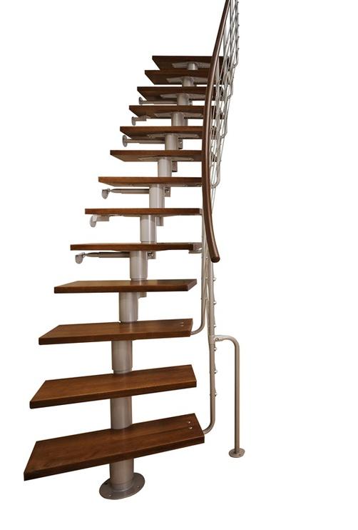 Laiptai Atrium Dixi 70 / 222-300, tamsus alksnis