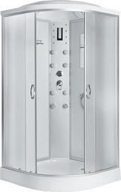 """Masažinė dušo kabina """"Erlit"""" 4509P-C3, 90 x 90, 4 dalių, žemu padu"""