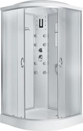 Masažinė dušo kabina Erlit 4509P-C3, 90x90x215 cm, 4 dalių, žemu padu