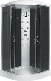 Masažinė dušo kabina Erlit, 4509P-C4, 90x90x215 cm, 4 dalių, žemu padu