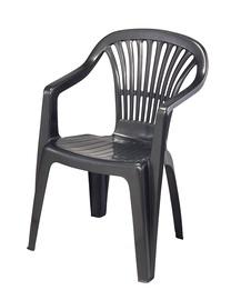 Plastikinė lauko kėdė Zena antracitas