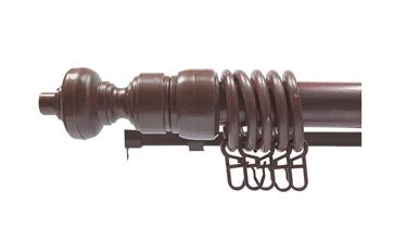 PVC aizkaru stanga Futura D28, 2.4m, sarkankoks