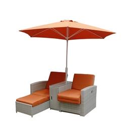 Komplektas C8429BV su 2 gultais ir skėčiu