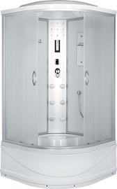 Masažinė dušo kabina Erlit 4509TP-C3, 90 x 90 cm, 4 dalių, aukštu padu