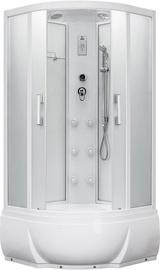 Masažinė dušo kabina Erlit 5509TP-S3, 90x90x215 cm, 4 dalių, aukštu padu